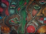 Adam and Eve Original Painting by barbosaart