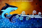 Shark Original Painting by barbosaart