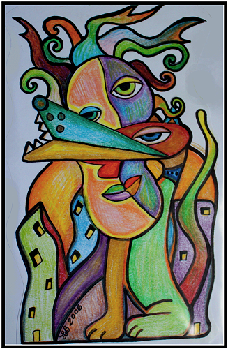 Abstract Colored Pencil Drawings Heart Of Art Blog