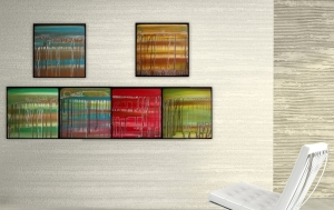 6 Original Abstract Paintings for Home Staging