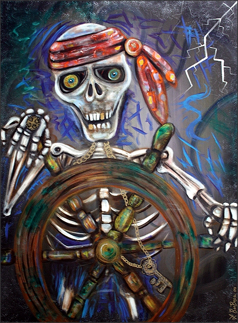 Captain Death 30 x 40""