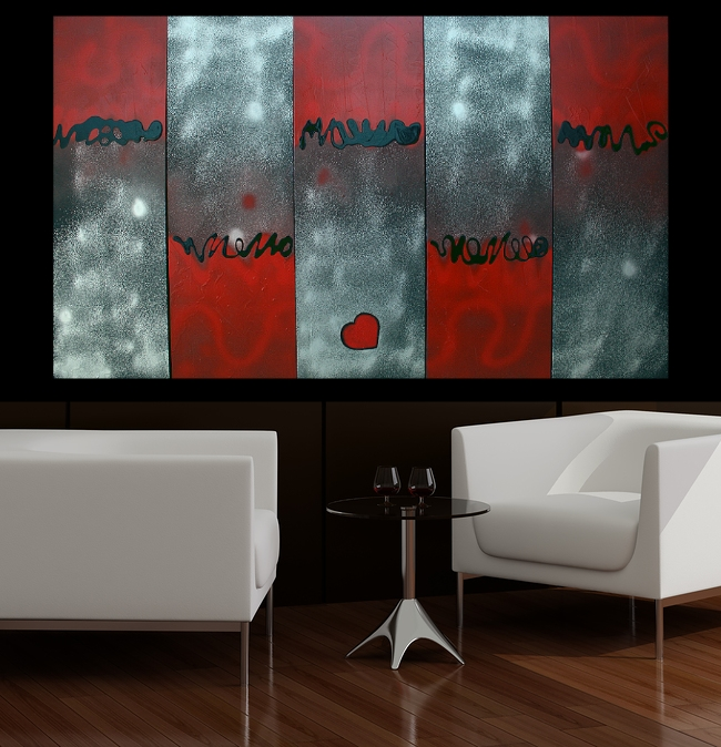New wall art for behind the couch heart of art blog for Behind the couch wall decor