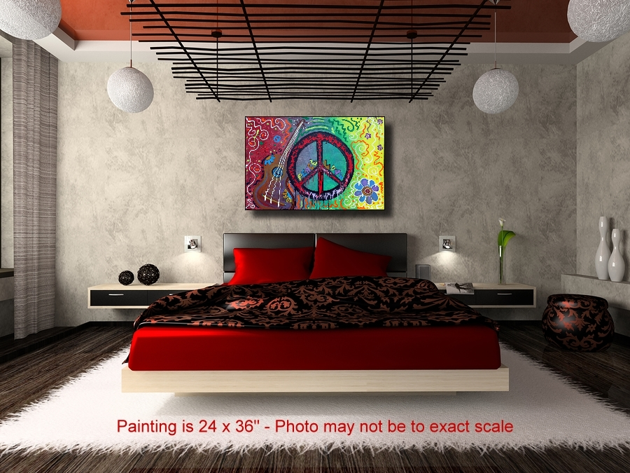 Peace Sign Paintings of Love by Laura Barbosa (3/4)