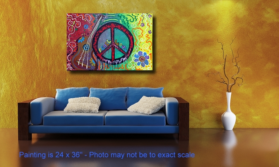 Peace Sign Paintings of Love by Laura Barbosa (4/4)