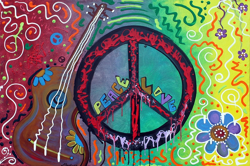 Peace Sign Paintings of Love by Laura Barbosa (1/4)