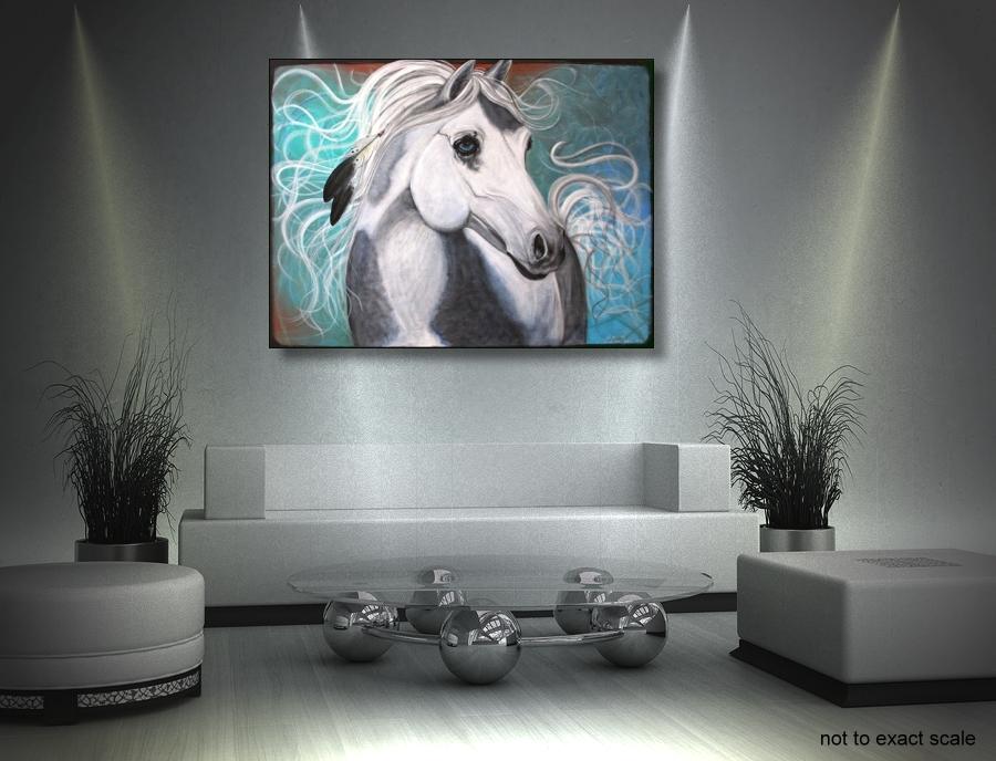 Original Native American War Pony, Horse Portrait (3/3)