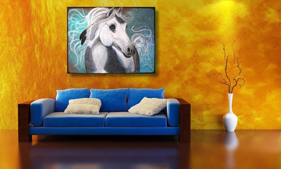 Original Native American War Pony, Horse Portrait (2/3)