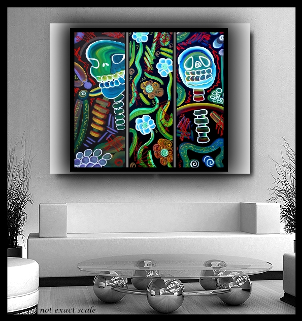 Day Of The Dead Wall Art couch art | laura barbosa's heart of art blog