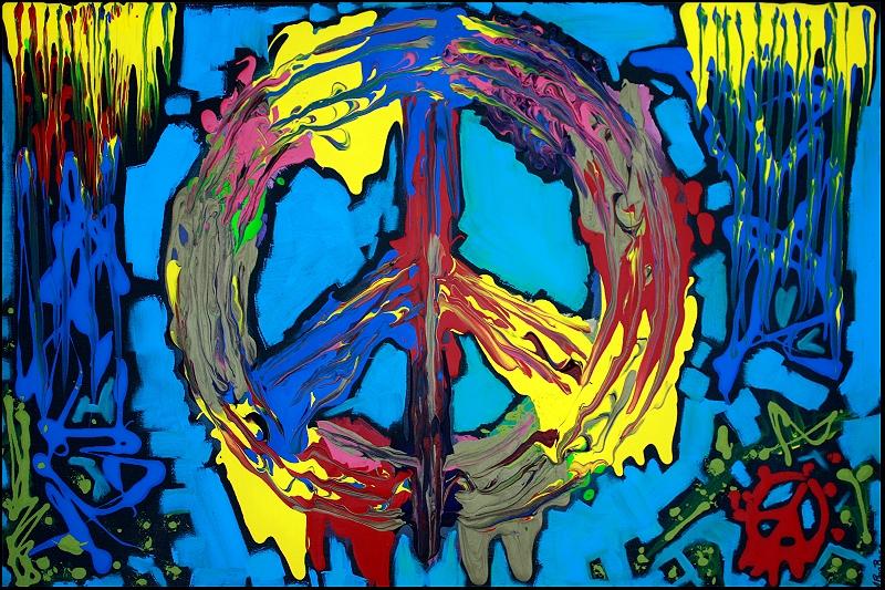 hippie artwork heart of art blog