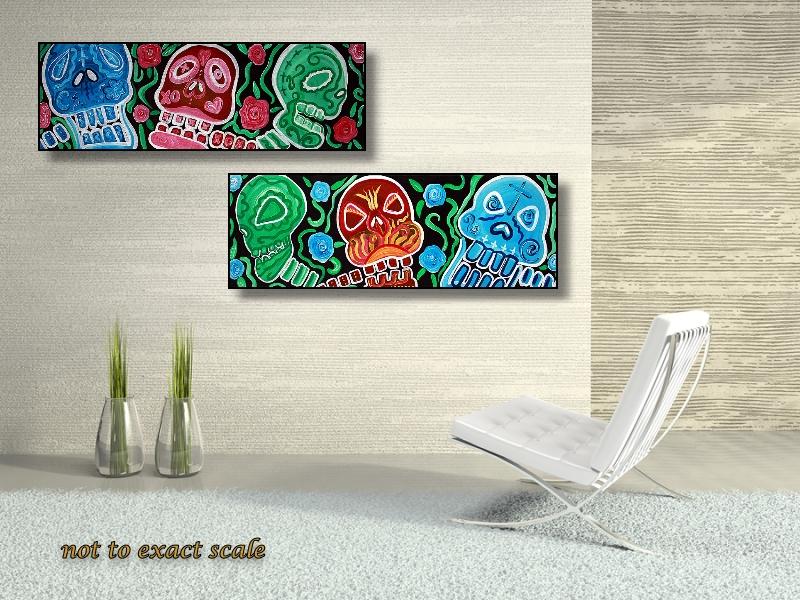 Sugar Skull Sweets - Abstract Folk Art Set (4/6)