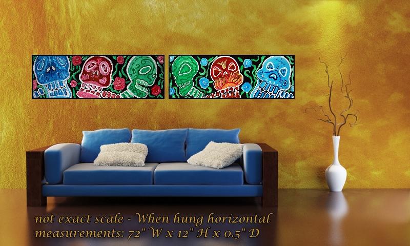 Sugar Skull Sweets - Abstract Folk Art Set (2/6)