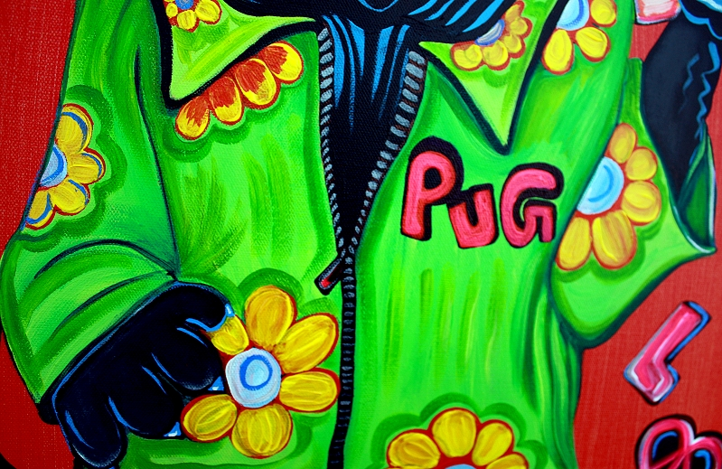 Pugs Love Peace - Pop Art Painting (4/6)