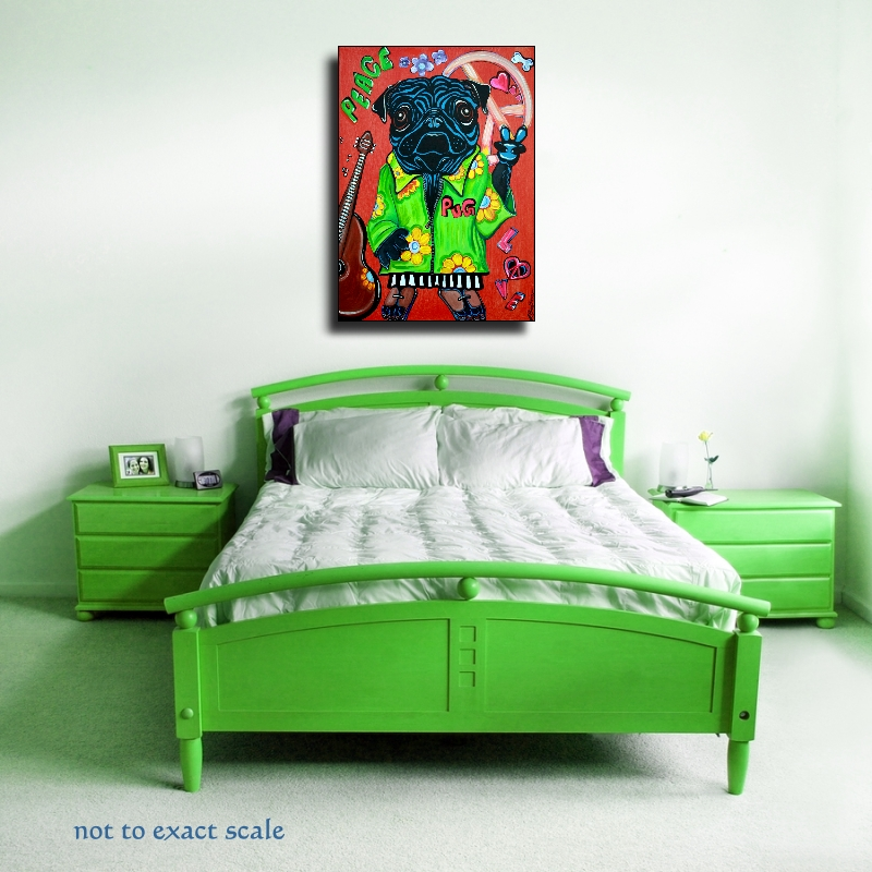 Pugs Love Peace - Pop Art Painting (5/6)