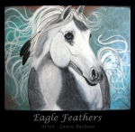 Eagle Feathers by Laura Barbosa - Equine Horse Painting - eBay Auction