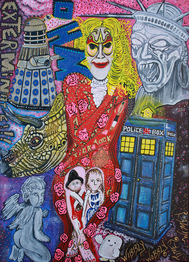 Doctor Who Obsessed Fan - Original Painting by Laura Barbosa