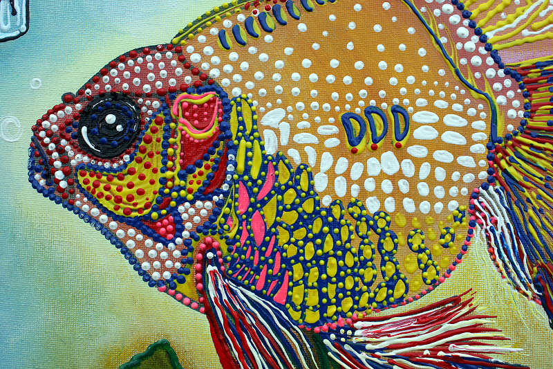 Pets laura barbosa 39 s heart of art blog for Fish eyes in paint