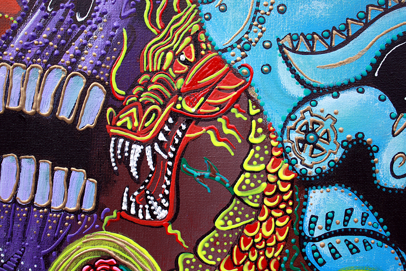 dragon Guardians by Laura Barbosa - close up chinese dragon