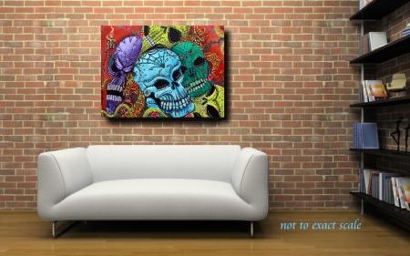dragon Guardians by Laura Barbosa - Original Painting 18x24 2013 - modern wall art