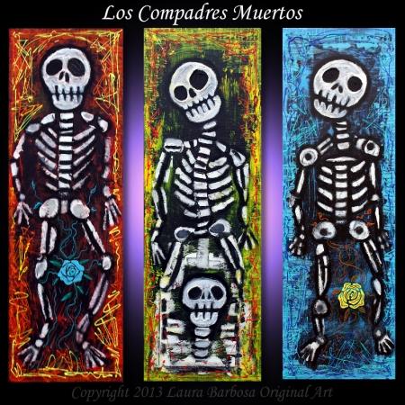 Los Compadres Muertos by Laura Barbosa 2013 - 36x36