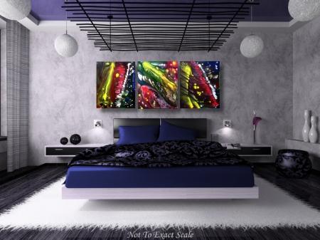 Night Of The Comet by Laura Barbosa - Blue Bedroom Art
