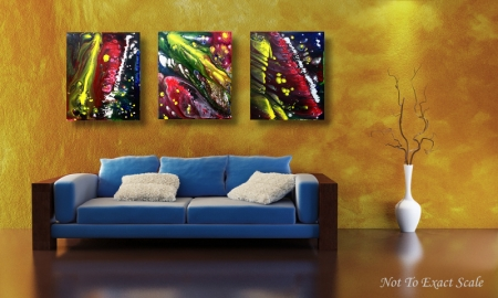 Night Of The Comet by Laura Barbosa - Modern Abstract Art