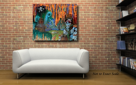 Pirate's Cove by Laura Barbosa - Original Painting - Modern Wall Art