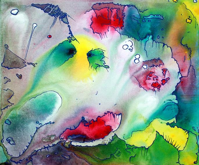 Sanctum - Panel 1 by Laura Barbosa - Pastel Abstract Art