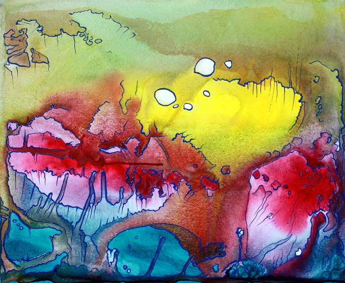 Sanctum - Panel 2 by Laura Barbosa - Pastel Abstract Art