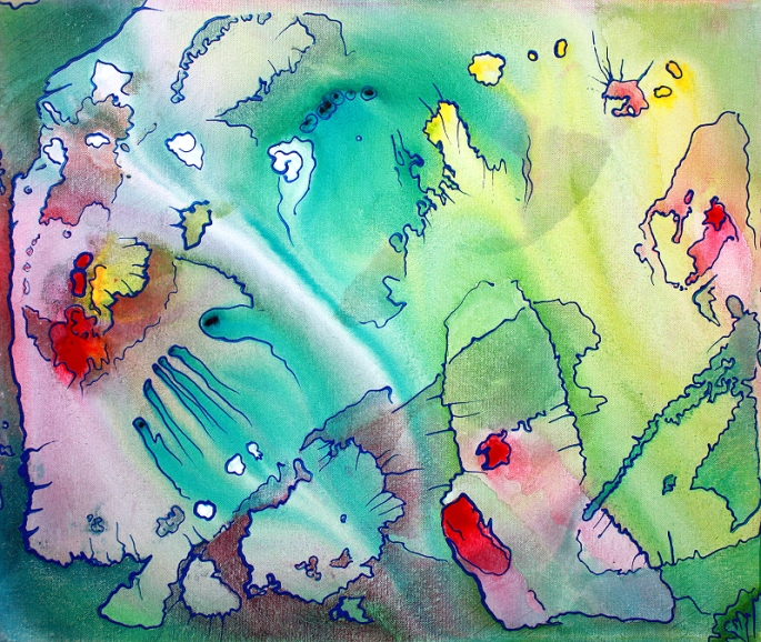 Sanctum - Panel 3 by Laura Barbosa - Pastel Abstract Art