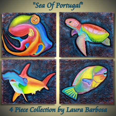 Sea of Portugal Collection - 4 Piece Collection by Laura Barbosa 2013 - 24x20