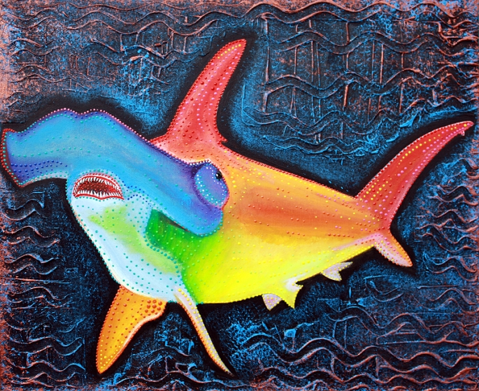 Sea of Portugal Collection - Hammerhead Shark by Laura Barbosa 2013 - 24x20