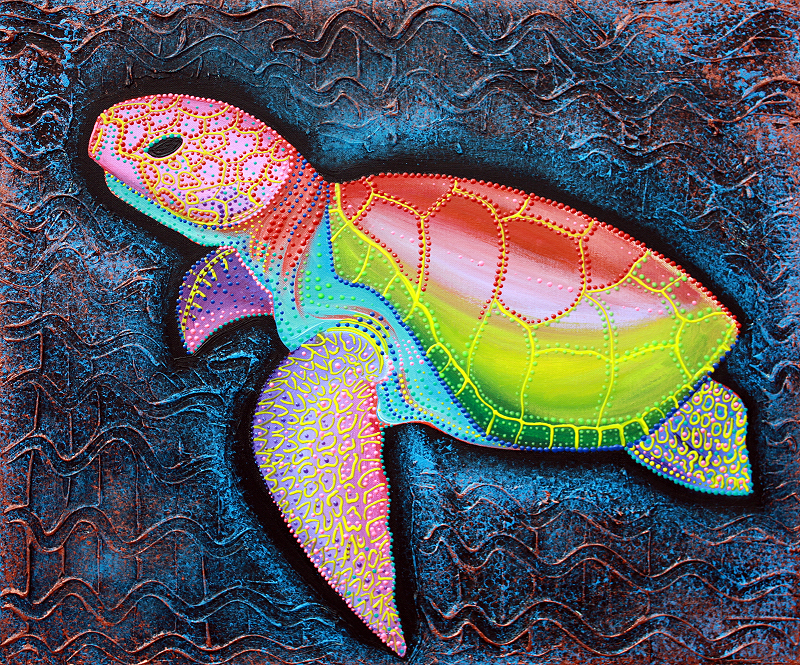 Sea of Portugal Collection - Kemp Ridley Sea Turtle by Laura Barbosa 2013 - 24x20