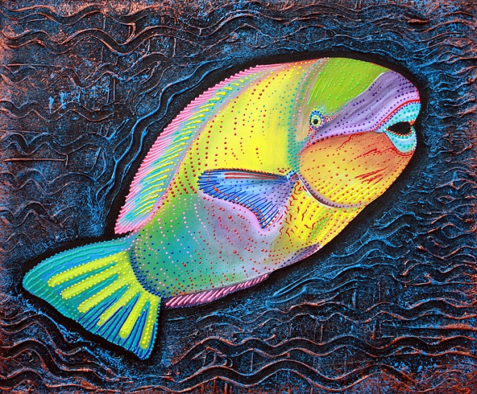 Sea of Portugal Collection - Parrotfish by Laura Barbosa 2013 - 24x20