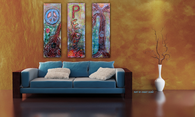 Bohemian Peace 3 by Laura Barbosa - living room art for behind the couch