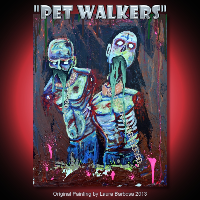 Pet Walkers by Laura Barbosa- 2013 24x36 for sale