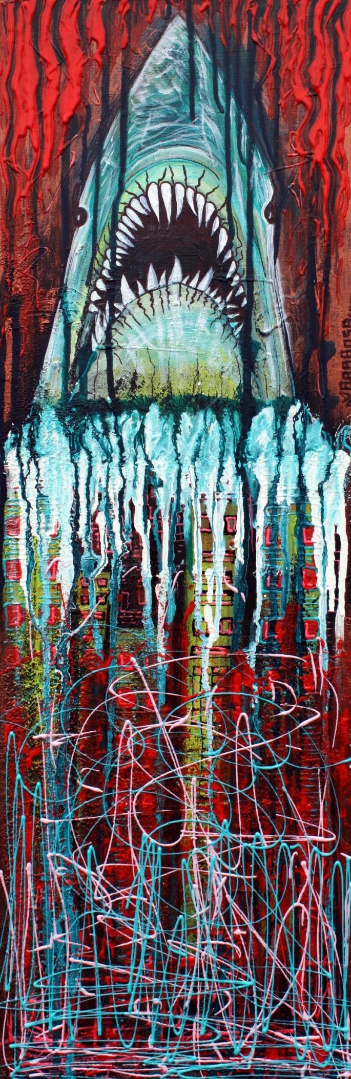 Splatterday by Laura Barbosa 2013 12x36 - Canvas Art