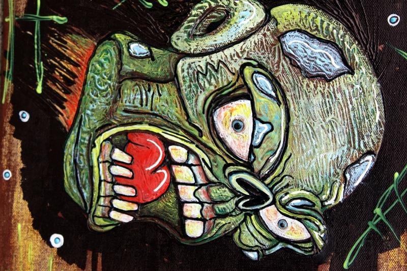 Zombie VS Piranha by Laura Barbosa - head shot