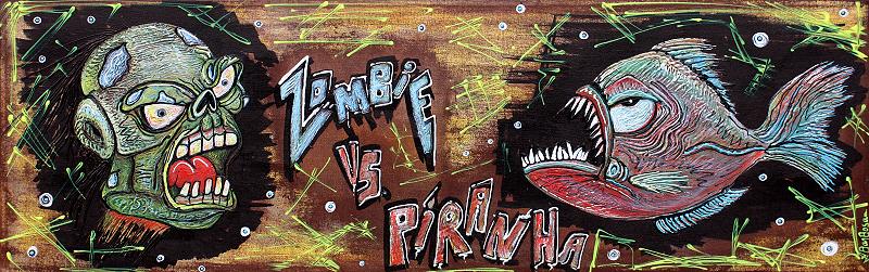 Zombie VS Piranha by Laura Barbosa