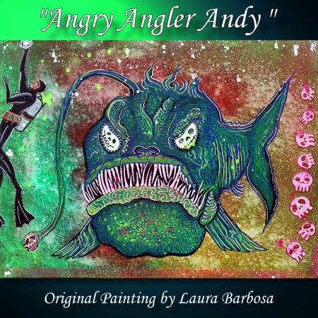 Angry Angler Andy by Laura Barbosa 2013 - 18x24 - Acrylics on Canvas