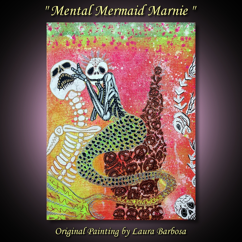 Mental Mermaid Marnie by Laura Barbosa 2013 - 24x18 - The Mermaid Chair