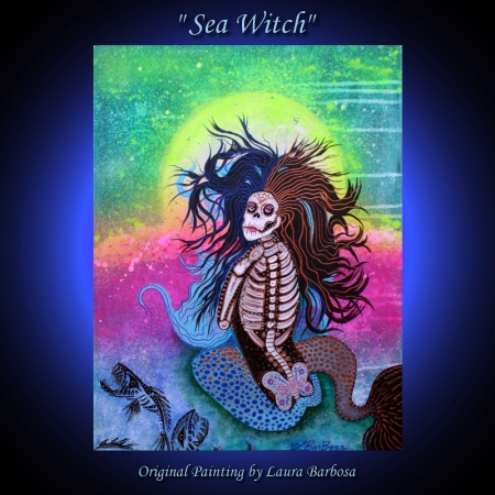 Sea Witch by Laura Barbosa 24x18 - 2013 - Fantasy Art