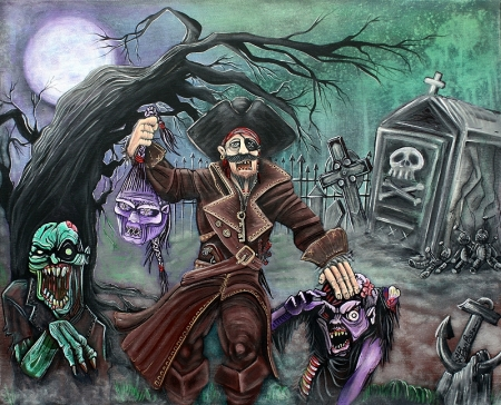 Pirate's Graveyard 2 by Laura Barbosa 2013 - 24x30