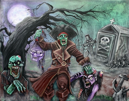Pirate's Graveyard by Laura Barbosa 2013 - 24x30