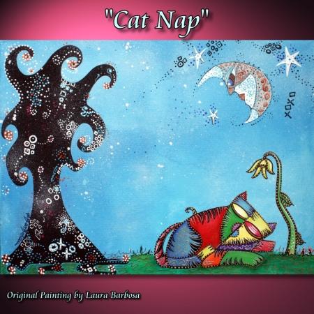 Cat Nap by Laura Barbosa 2013 - Custom Order - 18x24 - eBay