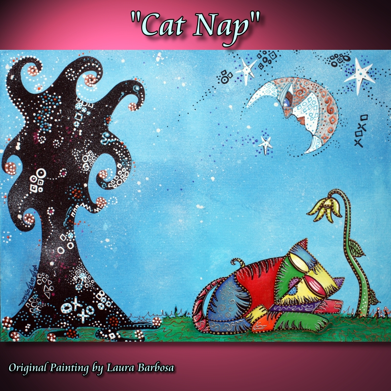 Cat Nap by Laura Barbosa 2013 - Custom Order - 18x24 - eBay
