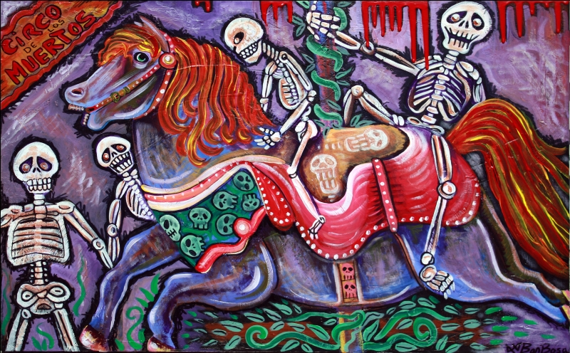 Circo De Los Musertos - Carnival Of Death by Laura Barbosa - Folk Art - ebay