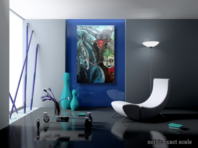 Headless Horseman by Laura Barbosa 2013 24x36 - modern room