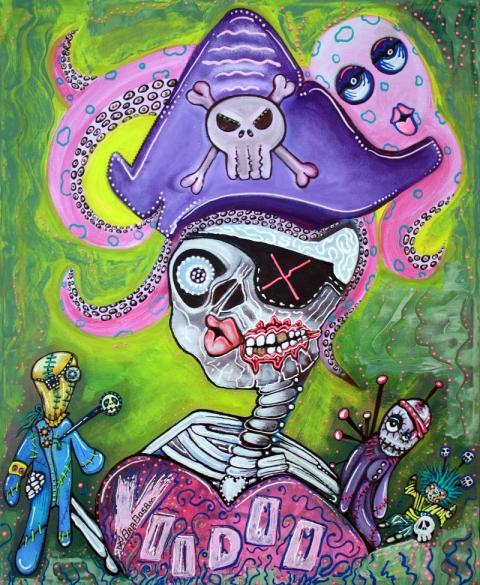 Pirate Voodoo by Laura Barbosa - Original Painting 2013