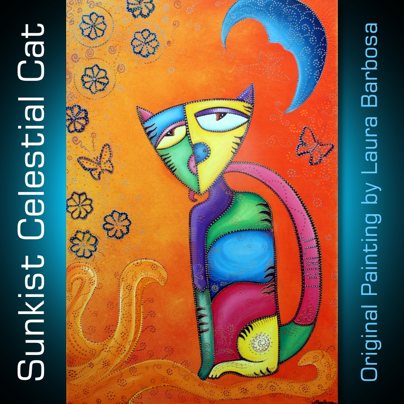 Sunkist Celestial Cat by Laura Barbosa 2013