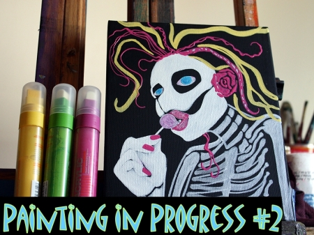 Painting in Progress #2 - Laura Barbosa